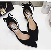 MujerSuelas con luz-Zapatos de taco bajo y Slip-Ons-Informal-PU-Negro Café