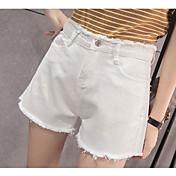 Dámské Jednoduchý Není elastické Kraťasy Kalhoty Rovné High Rise Jednobarevné