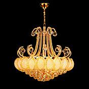 Lámparas Araña ,  Vintage Moderno/Contemporáneo Tradicional/Clásico Galvanizado Característica for Cristal LED MetalSala de estar
