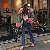 Mujer Boho Tiro Alto Microelástico Vaqueros Pantalones,Ajustado a la Bota Un Color