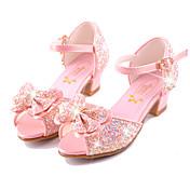 女の子-ウェディング ドレスシューズ カジュアル パーティー-マイクロファイバー-フラットヒール-コンフォートシューズ アイデア フラワーガールの靴-サンダル-