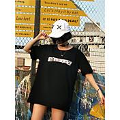 Mujer Vintage Noche Camiseta,Escote Redondo Floral Manga Corta Algodón