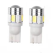 3w hvidblå rød gul grøn lilla dc12v t10 5630 6smd len dørlampe inspektionslampe nummerplade lyslampe 2 stk