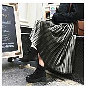Mujer Noche Midi Faldas,Columpio Primavera Un Color A Rayas