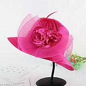 Dámské Klobouk Květina Jaro/podzim Léto Bucket klobouček Slamák,Patchwork Plastová fólie Látka Květinový