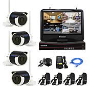 10インチの液晶画面ワイヤレスのNVRキットP2P 960pのHDの赤外線ナイトビジョンセキュリティIPカメラ無線LAN CCTVシステムをyanse®プラグアンドプレイ