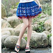 Mujer Noche Mini Faldas Verano Bloque de Color