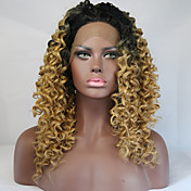 Mujer Pelucas sintéticas Encaje Frontal Corto Medio Largo Rizado rizado Afro Negro / Strawberry Blonde Peluca afroamericana Para mujeres
