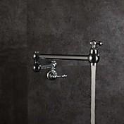 Arte Decorativa/Retro Pull-out / Pull-down Alto, Alto, Arco / Pot Filler Colocado en la ParedCon Termostato Plegable Rotativo Doblez