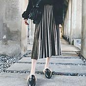 Mujer Noche Midi Faldas,Línea A Verano Un Color