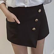 Mujer Sencillo Tiro Medio strenchy Shorts Pantalones,Holgado Un Color