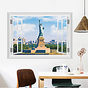 Romance De moda Paisaje Pegatinas de pared Calcomanías de Aviones para Pared Calcomanías Decorativas de Pared Material Decoración hogareña