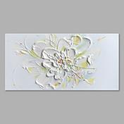 Ručně malované Květinový/Botanický motiv Horizontální,Abstraktní Módní a moderní Jeden panel Plátno Hang-malované olejomalba For Home