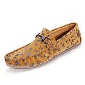 Hombre Zapatos de taco bajo y Slip-Ons Confort Suelas con luz Cuero de Cerdo Otoño Invierno Boda Casual Fiesta y Noche PaseoEstampado