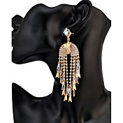 女性用 ドロップイヤリング ラインストーンベーシック ユニーク 友情 ヒップホップ Rock マルチの方法が着用します 欧米の ゴシック 映画ジュエリー 高級ジュエリー ステートメントジュエリー アフリカ タッセル アメリカ ファッション ブリティッシュ ビンテージ