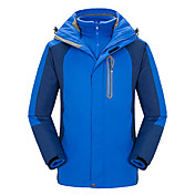 男性用 3-in-1 ジャケット キャンピング&ハイキング 釣り 登山 防水 保温 防風 耐久性 快適 冬 秋