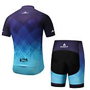 Miloto Maillot de Ciclismo con Shorts Hombre Manga Corta Bicicleta Pantalones Cortos Acolchados Ciclismo Espándex Primavera/Otoño Verano