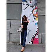 Mujer Corto Pullover Noche Casual/Diario Sexy Bonito Chic de Calle,Un Color Escote Redondo Manga Corta Lana Algodón AcrílicoOtoño