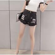 Mujer Sencillo Alta cintura Microelástico Chinos Pantalones,Corte Recto Un Color