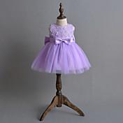 Vestido Bebé Flor-Poliéster-Verano-