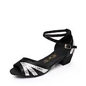 Mujer Zapatos de danza (niños) Brillantina Lentejuelas Satén Purpurina Planos Sandalias Zapatillas InteriorLentejuelas Hebilla