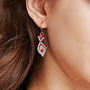 Mujer Pendients de aro Joyas Sexy Moda estilo de Bohemia Personalizado Hecho a mano Acero inoxidable Chapado en Oro Forma Geométrica Joyas