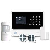 Sistema de alarma de seguridad wifi / gsm inteligente para casa soporta 8 zonas de defensa cableadas y 100 inalámbricas trabajan con 100