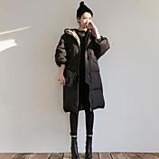 コート レギュラー ダウン レディース,カジュアル/普段着 ソリッド その他 ポリプロピレン-シンプル 長袖