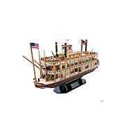 ジグソーパズル 3Dパズル ビルディングブロック DIYのおもちゃ 船 EPS+EPUレザー