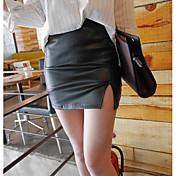 Mujer Discoteca Mini Faldas,Corte Bodycon Verano Un Color
