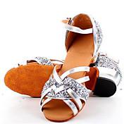 Børn Latin Læder Sandaler Træning Flade hæle Guld Sølv Lilla