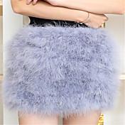Mujer Sexy Boho Adorable Noche Discoteca Mini Faldas,Columpio Plisado Otoño Invierno Arco iris