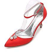 Mujer Zapatos de boda Confort Mary Jane D'Orsay y Dos Piezas Pump Básico Tira en el Tobillo Satén Primavera VeranoBoda Vestido Fiesta y