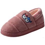 Mujer Zapatos Terciopelo Invierno Confort Forro de piel Forro de pelusa Zapatillas y flip-flops Tacón Bajo Dedo redondo Pompón Para Casual