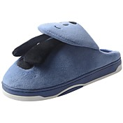 Hombre Zapatos Terciopelo Invierno Confort Forro de piel Forro de pelusa Zapatillas y flip-flops Pompón Para Casual Gris Marrón Azul
