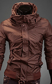 REVERIE UOMO Mannes Coffee UltrathinStand Kragen Solid Color Jacket
