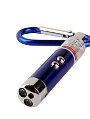 3-u-1 crveni laser + + bijelo svjetlo UV svjetlo LED bljeskalicu keychain (3 * LR44)