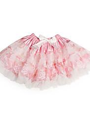 A-Linie Princess Ke kolenům Šaty pro květinovou družičku - Tyl Charmeuse s Mašle Volánky