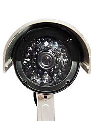 simulované vnitřní a venkovní kamera s blikající červená LED