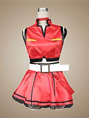 Inspirovaný Vocaloid Meiko Video Hra Cosplay kostýmy Cosplay šaty / Šaty Patchwork Czerwony Bez rukávůKabát / Sukně / Náhrdelníky /