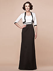 Lanting Bride® Pouzdrové Větší velikosti / Malé Šaty pro matku nevěsty - Včetně bolerka Na zem Poloviční rukáv Satén - Aplikace /