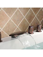 浴槽用水栓 - アンティーク調 - 滝状吐水タイプ / サイドスプレー / ハンドシャワーは含まれている - 真鍮 (オイルブロンズ)