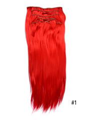 20 palců syntetické klip v prodlužování vlasů -10 barvy jsou k dispozici