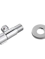mosaz rohový ventil s nerezovým štítkem (chromovaná)