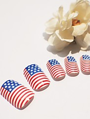 american flag nehtů drahokamu s nehty lepidlem