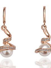 módní imitace perlové náušnice z lehkých slitin obruč