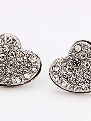nádherné drahokamu slitiny náušnice srdce broušené