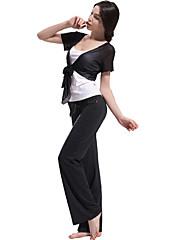 modální přátelské k pokožce jemné tenké krátký rukáv jóga oblek