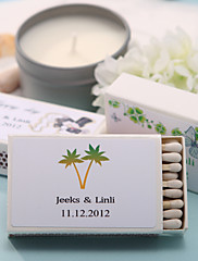 Wedding Décor Personalized Matchboxes - Coconot Tree (Set of 12)