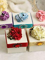 花とリボンが付いている古典的な好意ボックス - 12個セット(色以上)